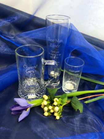 Beer mugs and glasses Personalized engraved gifts