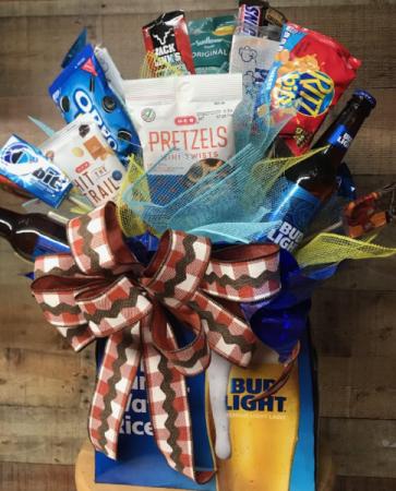 Beer & Snack Basket Gift Basket