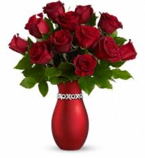 Bejeweled dozen roses