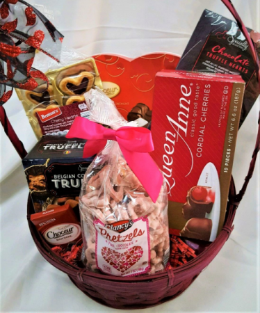 Belgian Truffles, Heart Shaped Cookies, Pretzels  If She loves Sweets.....