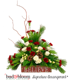 Believe Bud & Bloom Signature Arrangement in Franklin, IN | BUD AND BLOOM SOUTH INC.