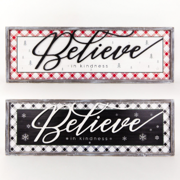Believe in Kindness Double sided sign