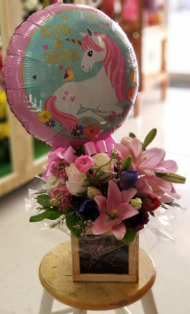 Believe in Unicorn Flowers  Fresh Floral and Balloon
