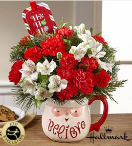 Believe Mug Bouquet by Hallmark FTD in Hesperia, CA | ACACIA'S COUNTRY FLORIST