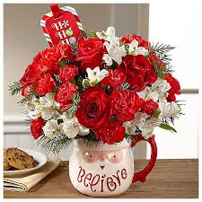 BELIEVE MUG BOUQUET CHRISTMAS