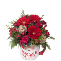 Believe Santa mug Christmas