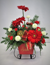 BELIEVE SLEIGH RIDE FRESH FLOWER ARRANGEMENT
