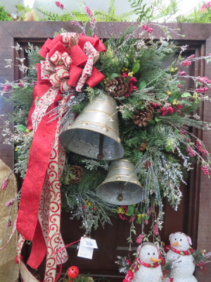 Bell Christmas Wreath Silk Christmas Wreath in Farmville, VA | CARTERS FLOWER SHOP