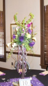 Belles, Mini Callas, Lisianthus, Orchids Tower Centerpiece