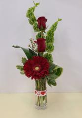 Bells of Love Bud Vase Mixed bud vase of fresh flowers
