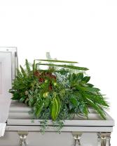 Beloved Botanics Casket Spray Sympathy Arrangement