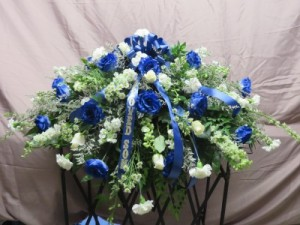 Beloved Fresh w/silk Casket Top Piece in Farmville, VA | CARTERS FLOWER SHOP