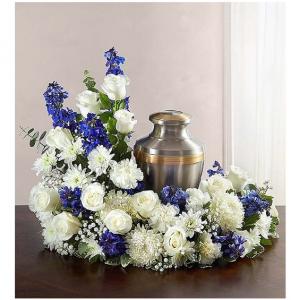 Beloved in Blue Urn Memorial in Springfield, MO | FLOWERAMA #226