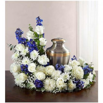 Beloved in Blue Urn Memorial