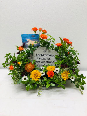 Beloved Loyal Friend Pet Memorial  in North Bend, OR | PETAL TO THE METAL FLOWERS