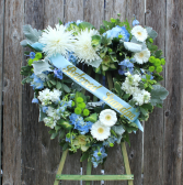 Beloved One Garden Heart Wreath