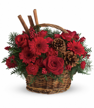 Berries And Spice All-Around Floral Arrangement