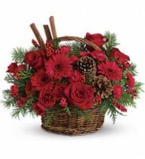 Berries And Spice Basket Arrangement