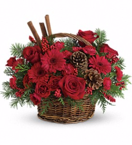 Berries and Spice  Christmas Flowers