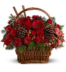 Berries and Spice Flowers Holiday Arrangement in Lauderhill, FL | A ROYAL BLOOM FLOWERS & GIFTS