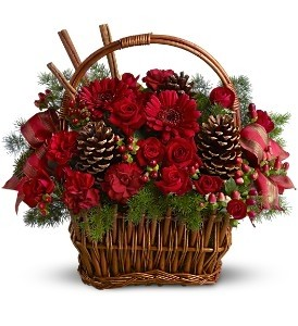 Berries and Spice Flowers Holiday Arrangement