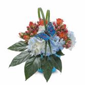 Berries in Blue Arrangement