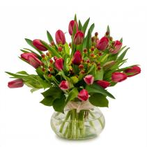Berries & Tulips Arrangement