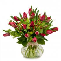 Berries & Tulips Arrangement