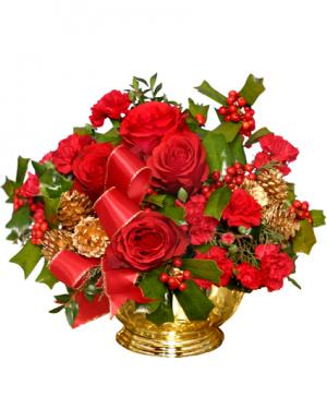 BERRY BEDAZZLING Bouquet of Flowers in Lauderhill, FL | A ROYAL BLOOM FLOWERS & GIFTS