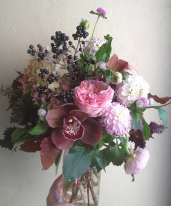Berry Bliss Mason Jar Arrangement in Toronto, ON | BOTANY FLORAL STUDIO