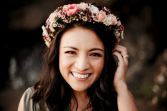 Berry & Blush Floral Crown Floral Crown