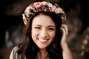 Berry & Blush Floral Crown Floral Crown in Tillamook, OR | ANDERSON FLORIST