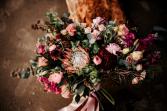 Berry & Blush Horizontal Bridal Bouquet  Bridal bouquet