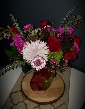Berry Burst Vased arrangement