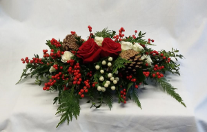 Berry Christmas! Centerpiece in Norway, ME | Green Gardens Florist & Gift Shop