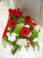 Berry Merry A festive red , white and green cut bouquet