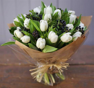 Berry Tulips   in Oakville, ON | ANN'S FLOWER BOUTIQUE-Wedding & Event Florist