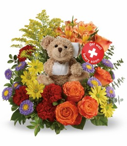 Beary Well Bear Teleflora - 2 Gifts in one! in Springfield, IL | FLOWERS BY MARY LOU