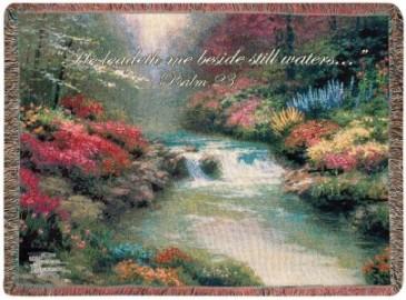 Beside Still Waters Inspirational Throw