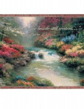 Beside Still Waters Inspirational Throw