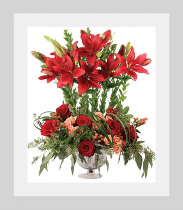 Bespoke Burgundy Lilies Custom Arrangement