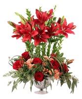 Bespoke Burgundy Lilies Floral Design