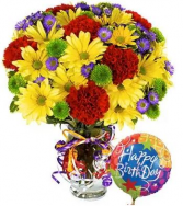 Best Birthday Bash + Free Balloon! Birthday Bouquet + Free Birthday Mylar Balloon