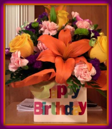 Best Birthday Ever Arrangement Vase Arrangement