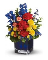 best dad ever blue cube arrangement
