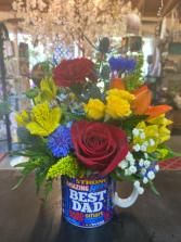 Best dad flower mug :)