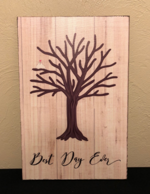 Best Day Ever... Thumbprint Guest Book Sign in Boise, ID | HEAVENESSENCE FLORAL & GIFTS
