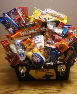 Best Guy Around! Snack basket, toolbox, masculine