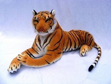 BROWN TIGER PLUSH, 48""
