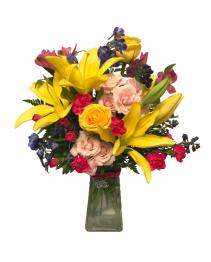 """""""Best Mom"""" Charm Bouquet Vase Arrangement"""